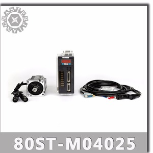 Image 1 - 80ST M04025 220V 1000W AC Servo motor 4N.M 2500RPM 1KW servomotor Single Phase ac drive permanent magnet Matched Driver AASD 20A