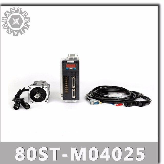 80ST M04025 220V 1000W AC Servo motor 4N.M 2500RPM 1KW servomotor Single Phase ac stick permanent magnet abgestimmt Fahrer AASD 20A