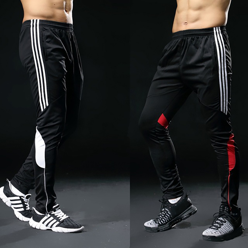 2019 Vente Chaude Pantalon De Sport Pour Hommes Fitness Gym Football Leggings Mince Running Football Formation Long Pantalon Futbol Pantalon Blanc