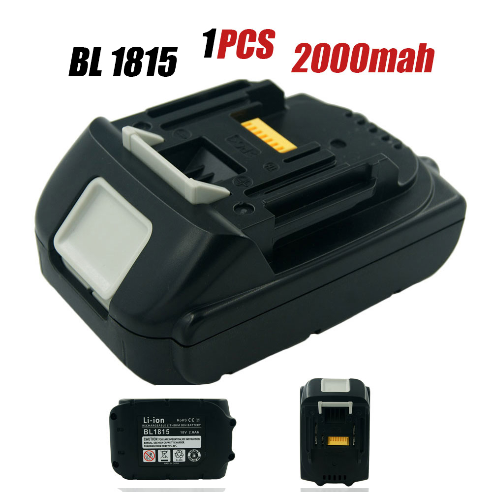 1XNew Replacement for Makita BL1815 18V 2.0AH Lithium Power Tool Rechargeable Battery for BL1830 BL1840 BL1845 LXT400 194230-4 high quality brand new 3000mah 18 volt li ion power tool battery for makita bl1830 bl1815 194230 4 lxt400 charger