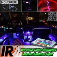 NOVOVISU inalámbrico IR Control Interior del coche ambiente 16 Color luz DIY Panel de instrumentos luz fresca para todos los coches