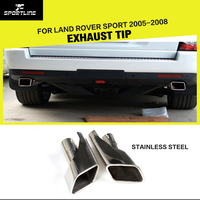 Stainless Steel Car Muffler End Tips RRS Exhaust Tips For Land Rover Sport 2005 2008