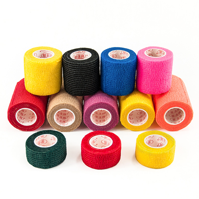 10 rolls/lot Non-woven Elastic Self-adhesive Bandage Wrist Arm Leg Joints Protector Breathable Athletic Adhesive Tape Bandages