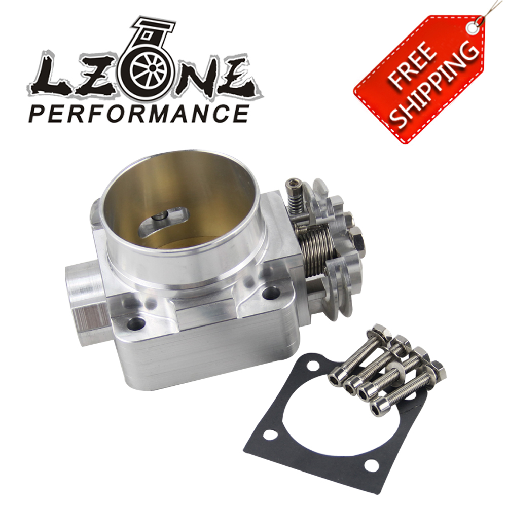 LZONE RACING - FREE SHIPPING NEW THROTTLE BODY For Mitsubishi Evo 4 5 6 70mm Uprated Racing Billet Throttle Body JR6941 pqy racing 92mm throttle body manifold adapter plate for ls ls2 ls3 ls6 ls7 lsx black pqy6937 tbs41