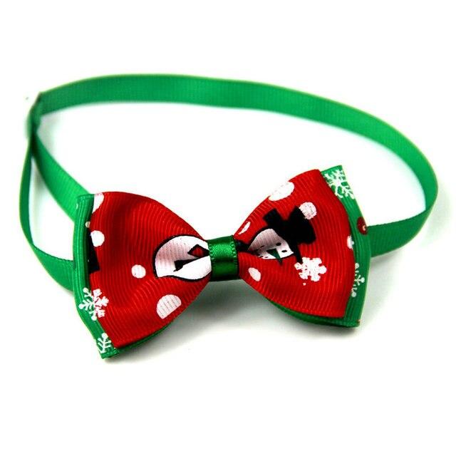 Christmas Holiday Dog Collar Bow Tie 10
