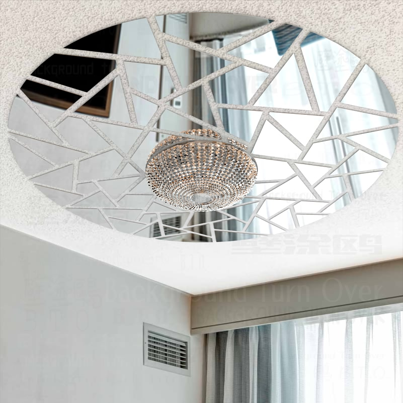 ①Abstract Auspicious Cloud Decorative 3D Ceiling Mirror Wall ...