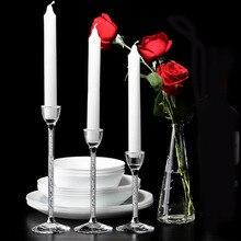 Свадебные Творческий Свеча для праздника держатели индивидуальные центральные стекло кристалл подсвечник гостиная украшения дома