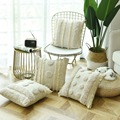 Роскошная подушка ручной работы  наволочка цвета слоновой кости  плюшевый чехол с кисточками для дивана  дивана  домашнее декоративное бель...