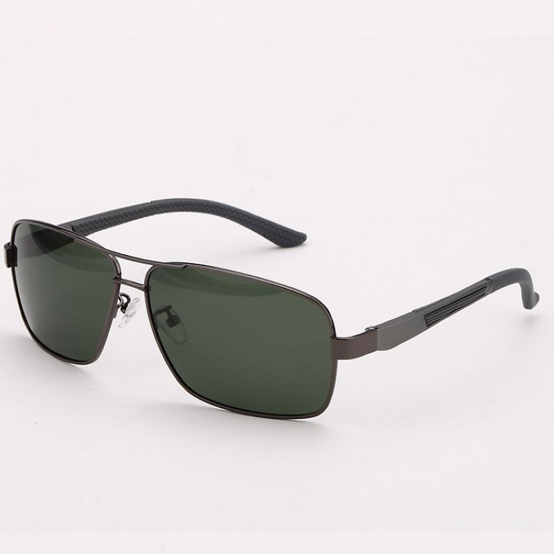 957fdf7e70 Polarized Sunglasses For Men Rectangle Shape Frame Polarised Green Lens Mens  Glasses Solbriller Nettbutikk
