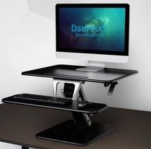 M3 Sit Stand Desk Riser Easy Up Height Adjustable Computer Laptop Desk with Foldable Keyboard Holder 80x52cm