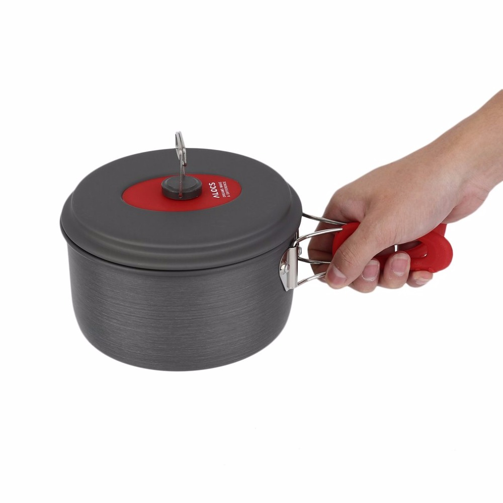 7set Portable Ultralight Aluminum Outdoor Camping Hiking Cookware Cooking Picnic Pan Pot Teapot Dishcloth 4 People Well Sell 4 5 people outdoor camping cooker field supplies portable cooking utensils 15 pcs set hiking cooking picnic bowl pot pan cj25