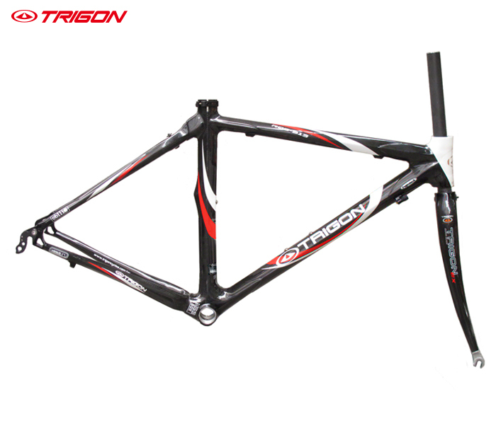 TRIGON RQC913 carbon fiber ultra light 700c road bike bicycle frame frameset carbon frame include seatpost seat post 2018 carbon track frame carbon fiber fixed gear bike frame carbon racing tracking bike frameset 49 51 54cm with fork seatpost