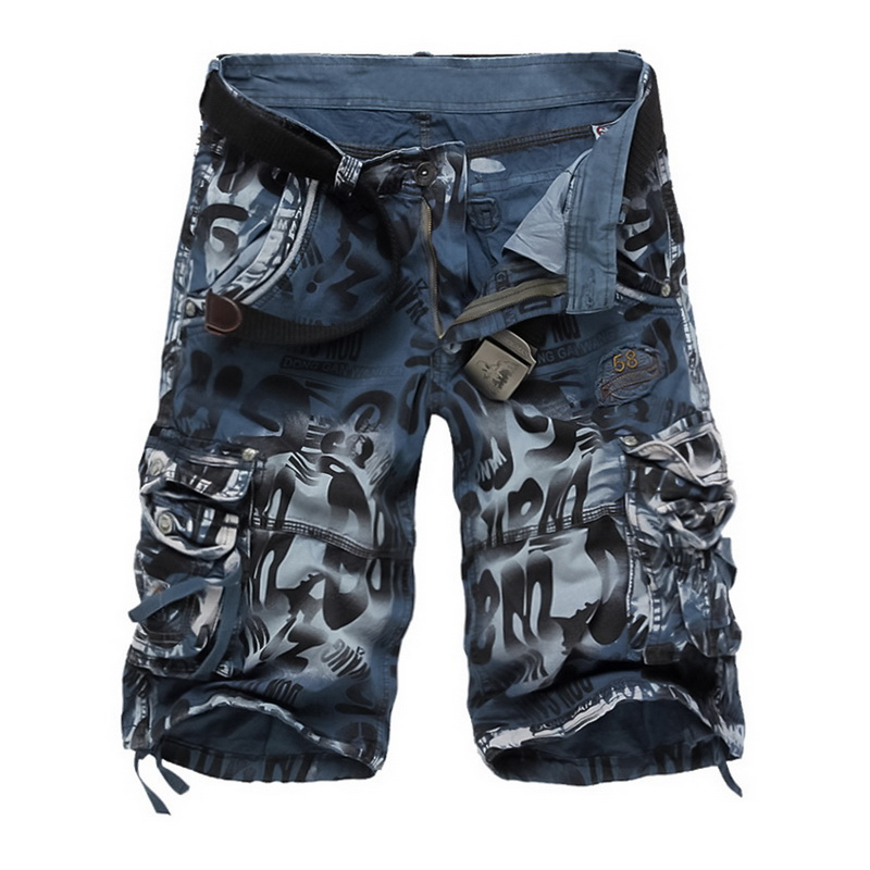 MJARTORIA 2019 Summer Men Large Size Loose Mens Military Cargo   Shorts   Army Camouflage Cool Hot Sale Cotton Casual Men   Shorts