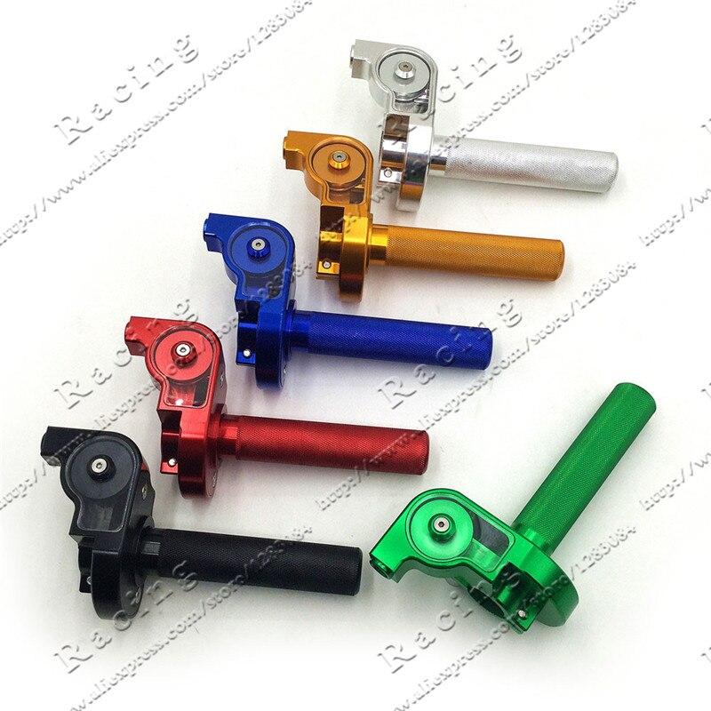 22mm Lenker Cnc Aluminium Gas Grip Schnell Twister Begleichen Für Crf50 70 110 Irbis 125 250 Dirt Pit Bike Motorrad Motocross Und Verdauung Hilft