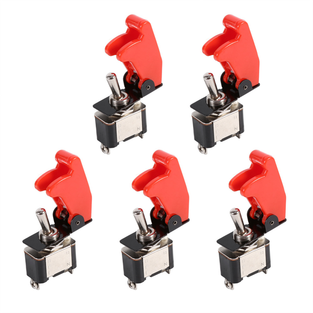 5pcs Set 12v 20a Red Cover Rocker Toggle Spst On Off Switch Car Lighted Onoff 12vdc Amber Truck 2 Pin Automobiles Accessories In Switches Relays From Motorcycles