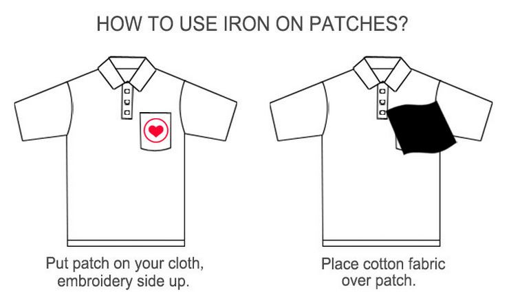 how to iron patches 1