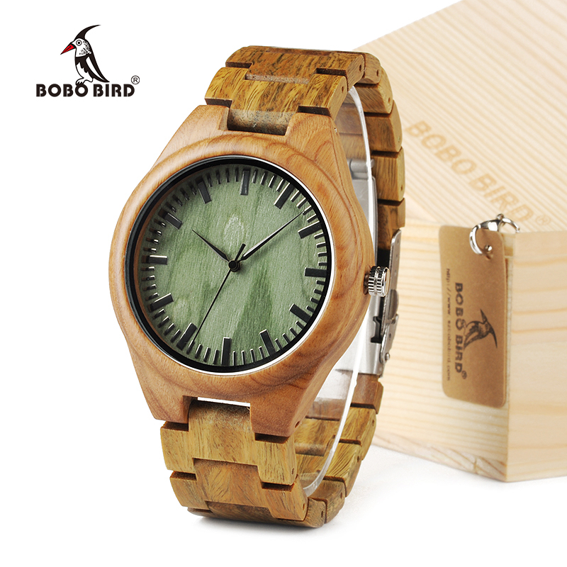 2016 BOBO BIRD G19  Bamboo Verawood Watch Miyota Japanese 2035 Movement Outside With Genuine Leather Strap Quartz Analog bobo bird high quality new bamboo wood watch case with japanese miyota movement leather strap in gift box for women