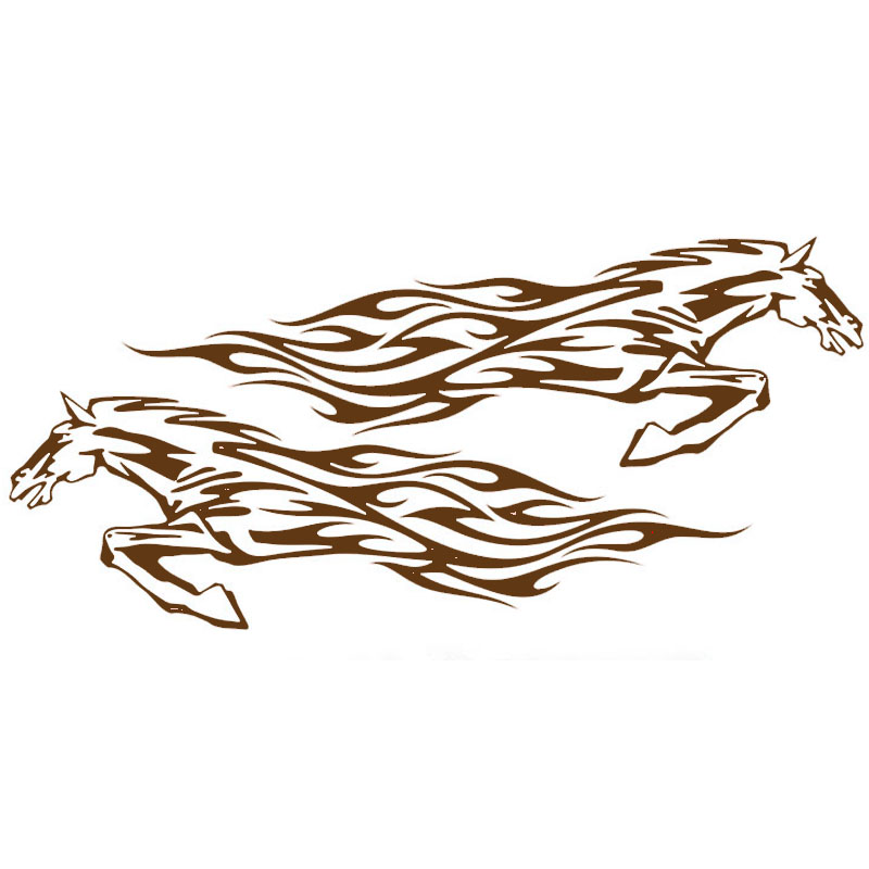 New Fine Galloping Horse Courageously Pioneering Car sticker for Motorhome Camper Van RV Trailer Vinyl Decal Car Styling Jdm