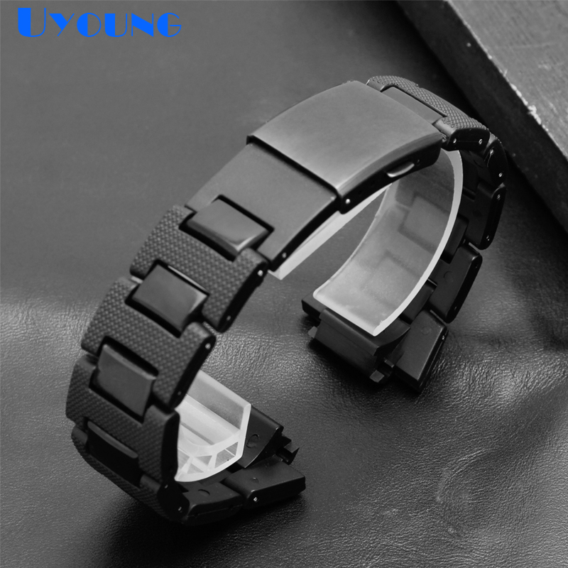 Plastic watchstrap Convex mouth bracelet 26*16mm watchband Steel Case Bumper for casio <font><b>DW</b></font>-6900/DW9600/DW5600/GW-M5610 watch <font><b>band</b></font> image