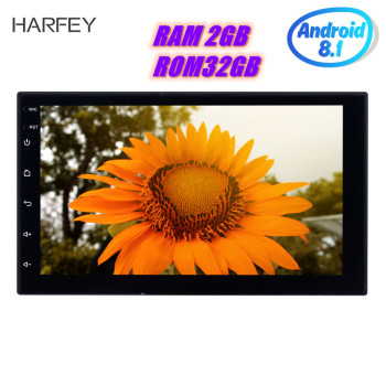 Harfey 2Din Universal Car Radio RAM 2GB ROM 32GB Android 8.1 7inch GPS Multimedia Player For VW Nissan Kia bluetooth autoradio image
