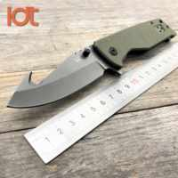 LDT X23A Folding Knife 8Cr13Mov Blade Carbon Fiber Handle Survival Tactical Military Outdoor Knives Pocket Camping Knife EDC