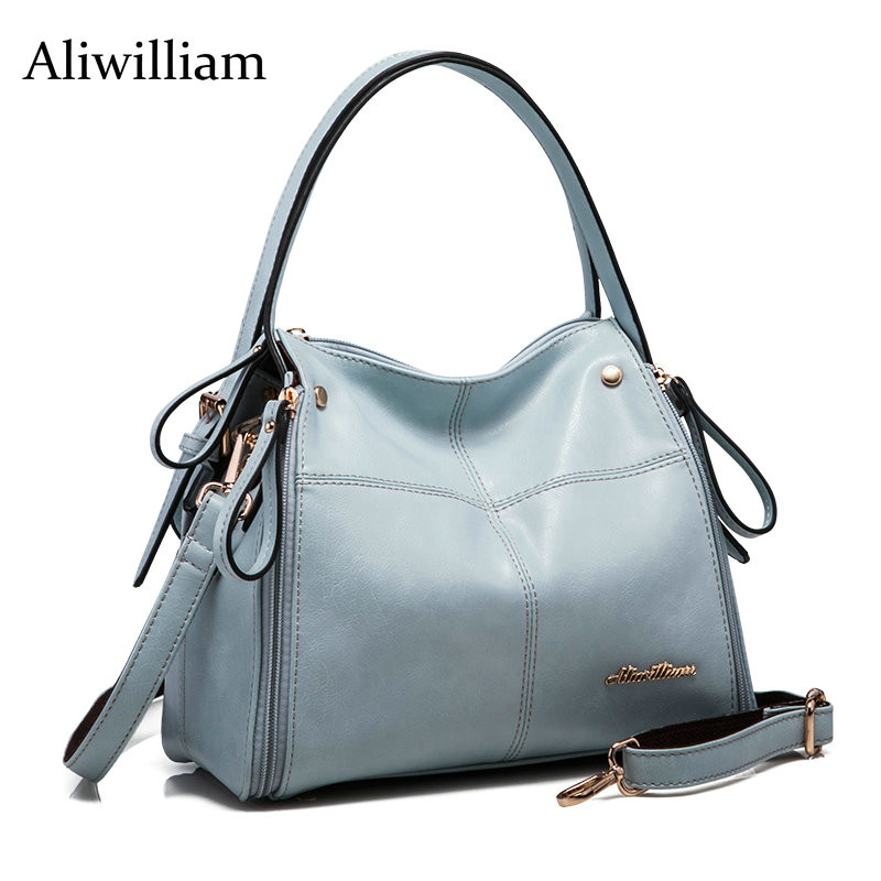 Aliwilliam 2017 Fashion Women Genuine Leather Bag Famous Designers Brand Handbag Luxury Cowhide Shoulder Messenger Bags