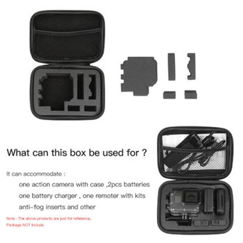 Caja de almacenamiento de bolsa de almacenamiento de EVA de tamaño pequeño para gopro 7 accesorios Hero 7 6/5/4/3 + SJCAM SJ4000 XIOMI YI 4K Cámara de Acción