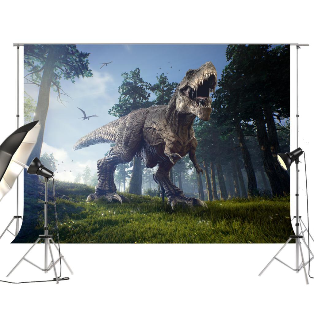Джунгли динозавров фотография Фон Фото фон Парк Юрского периода мира тематические День рождения фото декоры XT-6981