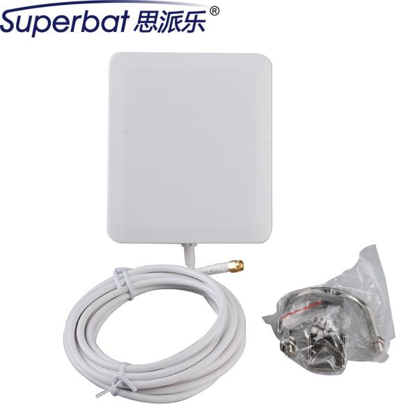 10dbi Superbat 2300-2700 МГц Усилитель Сигнала 4 Г LTE Антенна Антенна Для Монтажа в Панель RP SMA Разъем 140*120*25 мм 3 М Кабель для huawei 4g