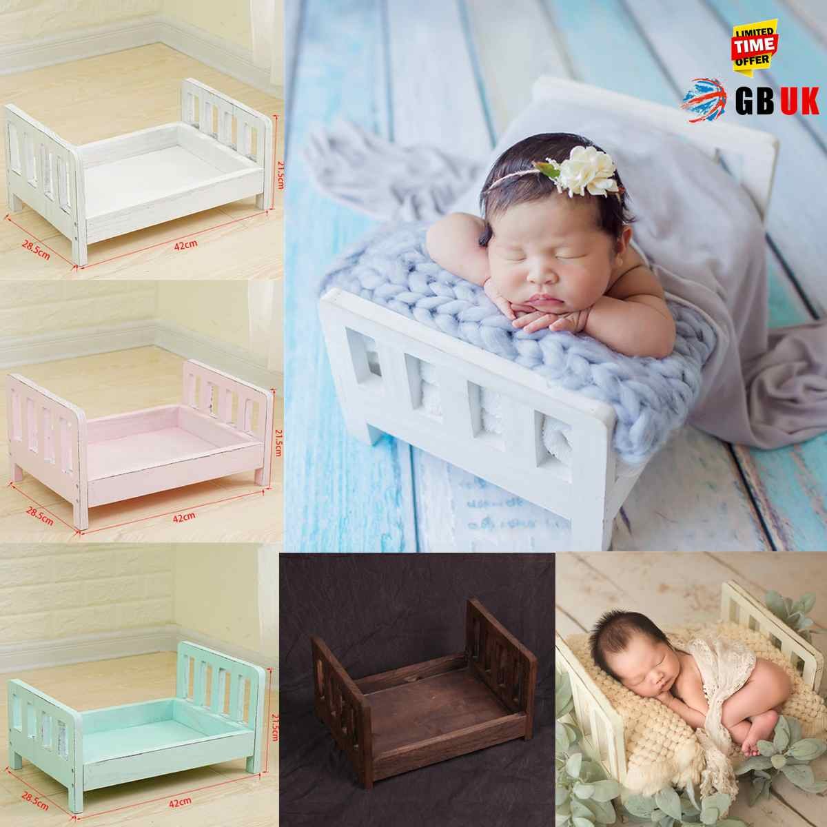 For Photography Wood Bed Newborn Baby Photography Props