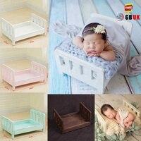 Accesorios de recién nacido para fotografía cama de madera recién nacido posando bebé fotografía Props foto estudio cuna accesorios para sesión de fotos posando sofá