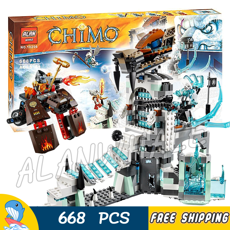 668pcs Bela 10296 Sir Fangar's Ice Fortress Children Toys building blocks for children brinquedos Movie Compatible With lego