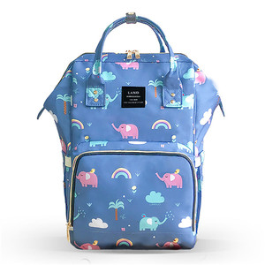 Image 3 - Clearance Original LAND Diaper Bag Large Capacity Nappy Bags Nursing Bag Fashion Travel Backpack Mommy Daddy Bebek Bag