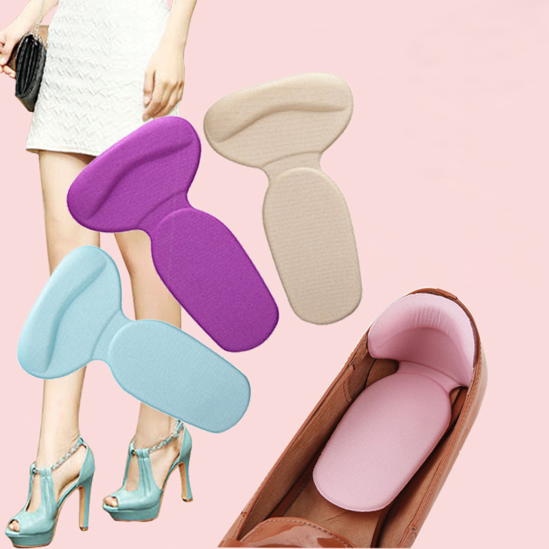 1 Pair Soft Silicone Multicolor High Heel Liner Grip Back Insole Pads Foot Care Protector Anti Slip Cushion Shoe Insert FM0800