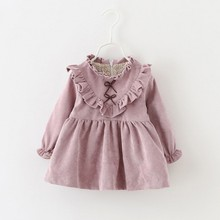 New Winter Newborn Dress Infant Baby Clothes Dress For Girl