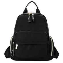 YILIAN A womans nylon backpack 2018 New product leisure Pure color Female bag Soft 1904-1