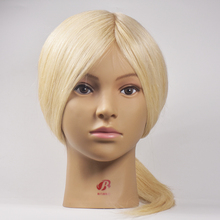 Hot Sale 100% Real Human Hair Training Head Practice Hairdressing Mannequin Cosmetology Hair Styling Mannequins Head Doll Model