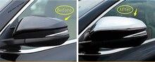 Yimaautotrims Door Rearview Side Door Mirror Cover Trim 2 Pcs Fit For Toyota Highlander KLUGER 2014 2015 2016 Chrome