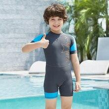 New 2018 Boys Cartoon Sports Bathing Suits Children Kids Swimsuit For Boys One Piece Swimwear Beachwear Sporting Beachwear