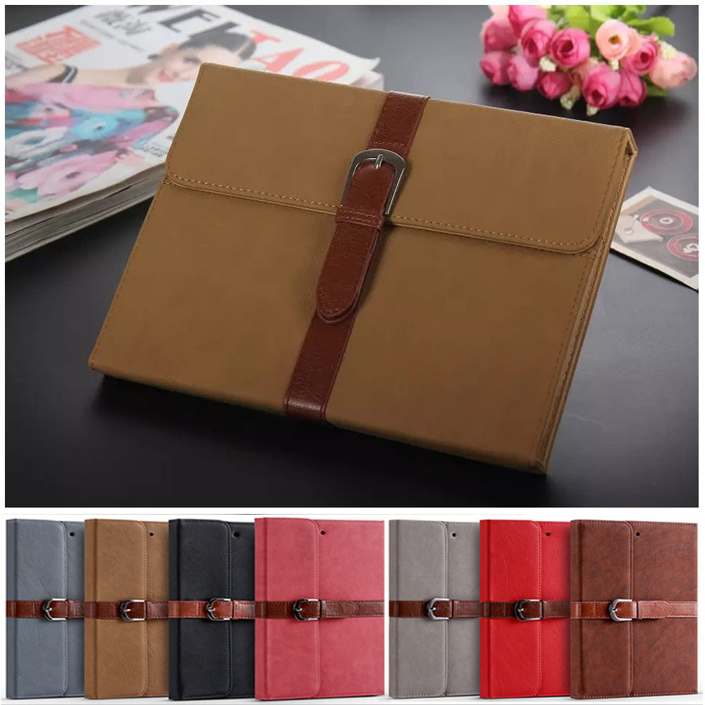 купить Case For iPad 9.7 2018 PU Leather Auto-sleep with Card Bag Magnetic Stand Cover Funda For Apple iPad 6th 9.7