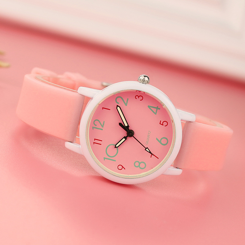 Fashion Casual Boys Girls Watch Electronic Digital Led Silicone Clock Wristwatch Bracelet For Children Kids Gift Bob Esponja Soft And Light Children's Watches