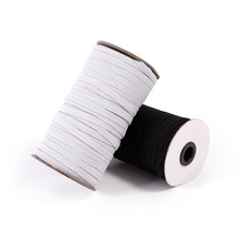 5m Elastic Band Sewing 3/6/9/10/12/15mm High Quality Flat Bands For Underware Pajamas Ties Accessories DIY