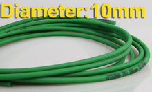 Diameter:10mm  Green Rough Surface PU Industrial round belt conveyor --freeshipping