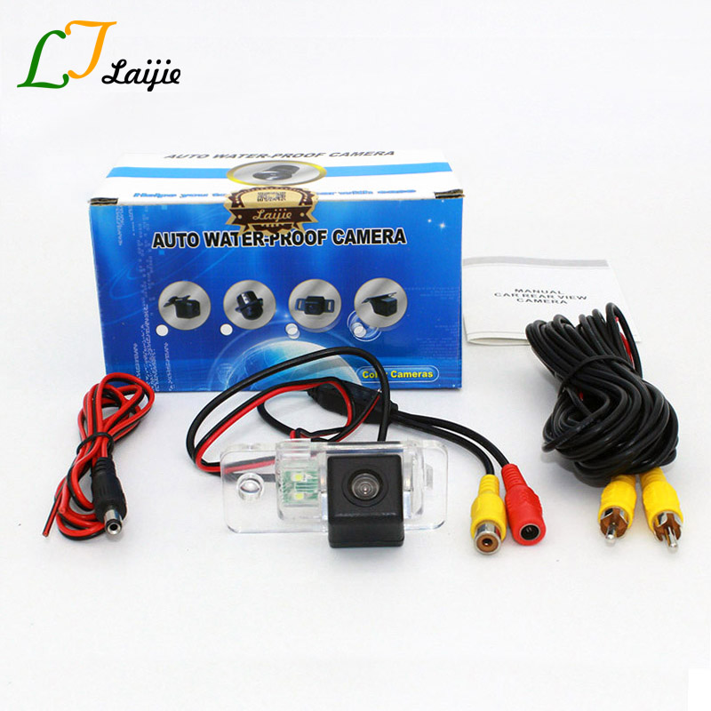 Laijie Car Rear View Camera For Audi A2 / A3 / S3 / RS3 / CCD Night Vision Wide Lens Angle Reversing Camera / 6 Meters Wire RCA