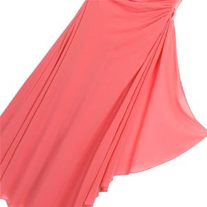 Image 5 - Kwiat dziewczyny sukienka szyfonowa sukienka Rhinestone dzieci dziewczyny jedno ramię dla księżniczki na konkurs piękności druhna ślubna sukienka na przyjęcie urodzinowe