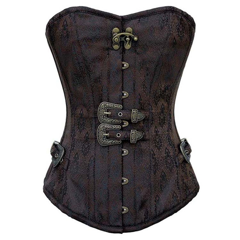 Women Steampunk Corsets Bustiers Tops Corset Steel Bone Corset Top Slimming Body Shapper Overbust Plus Size Corset W31212