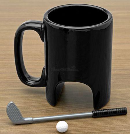 Free Shipping 1Piece 300ml The Black Ceramic Golf Mug / Executive Sports Golf Mug