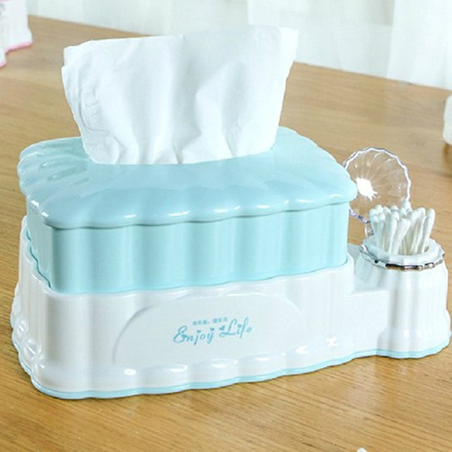 Multifunction Tissue Boxes Toothpick Sundries Storage Box Home