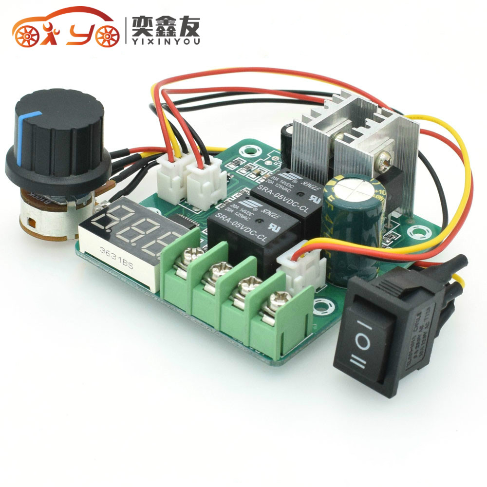 Electrical Equipments & Supplies Yixinyou Speed Controller 10a Automatic Forward Reverse Motor Speed Governor Cycle Switching Forward Reverse Switch Dc6-60v 6.3