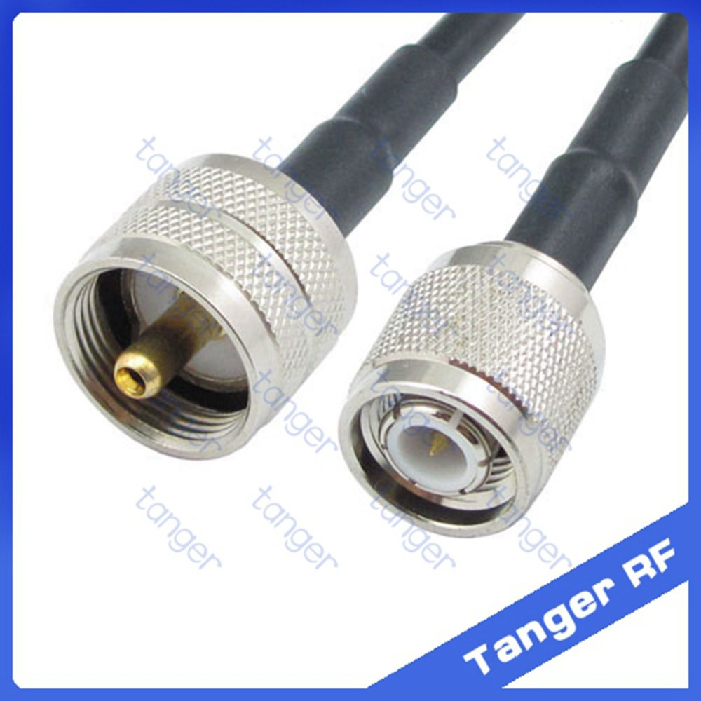 Hot Sale Tanger TNC male plug to PL259 UHF male plug straight RF RG58 Pigtail Jumper Coaxial Cable 20inch 50cm with High Quality high quality low attenuation tnc right angle male switch f male plug rf coax cable rg142 50cm 20 adapter